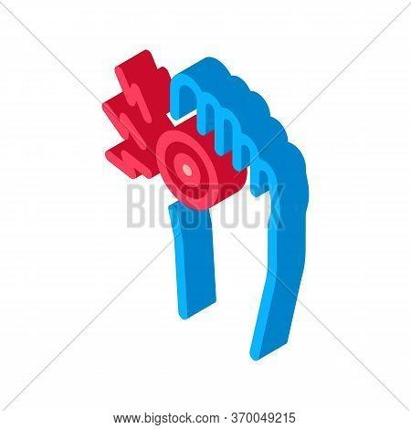 Arthritis Of Bone On Foot Icon Vector. Isometric Arthritis Of Bone On Foot Sign. Color Isolated Symb