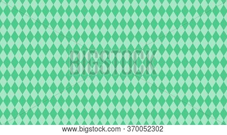 Green Pastel Rhombus Pattern For Background, Rhombus Texture For Wall Decoration, Wallpaper Rhombus
