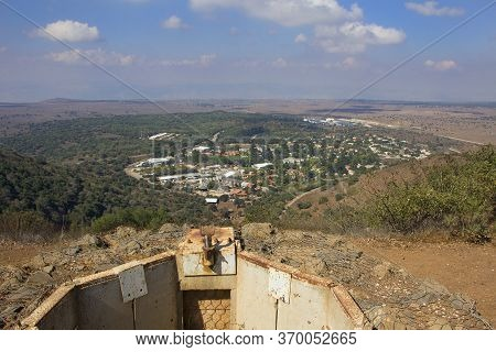 Strategic Fortifications In The Golan Heights. A Look Towards Syria From The Golan Heights Of Israel