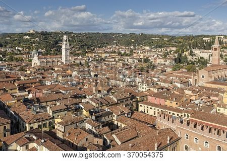 Overlooking The Town Of Verona, Northern Italy