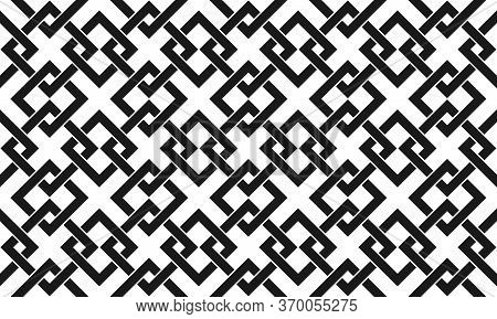 Abstract Seamless Pattern Of Intertwined Squares For Wide Use In Decoration And Decoration Of Textil