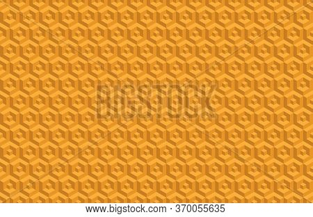 Abstract Seamless Three-dimensional Cube Pattern For Wide Use In Decoration And Decoration Of Textil