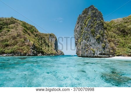 Shimizu Island With Turquoise Blue Lagoon, Bacuit Archipelago, El Nido, Palawan, Philippines, Asia