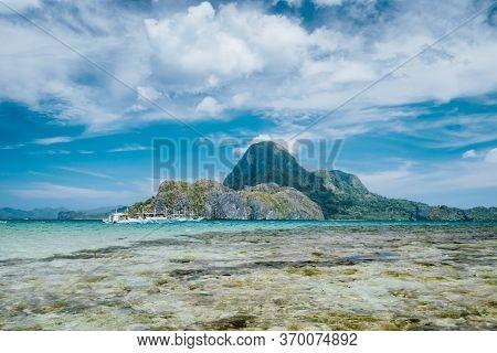 El Nido Bay And Cadlao Island And Blue Lagoon, Palawan, Philippines