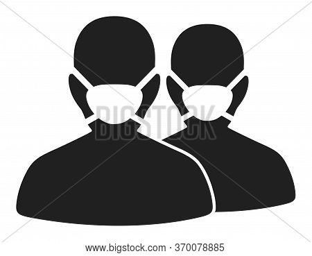 People With Masks Vector Illustration. A Flat Illustration Iconic Design Of People With Masks On A W