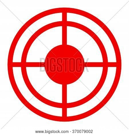 Bullseye Vector Illustration. A Flat Illustration Iconic Design Of Bullseye On A White Background.