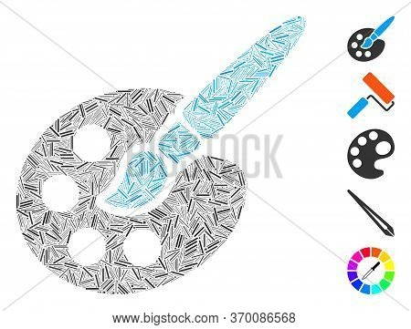 Hatch Mosaic Based On Paint Tools Icon. Mosaic Vector Paint Tools Is Formed With Scattered Hatch Dot