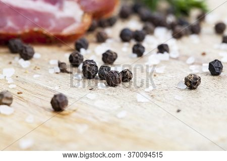 Beef Meat Prepared And Marinated For Food, The Products Are Ready And Eaten Dried