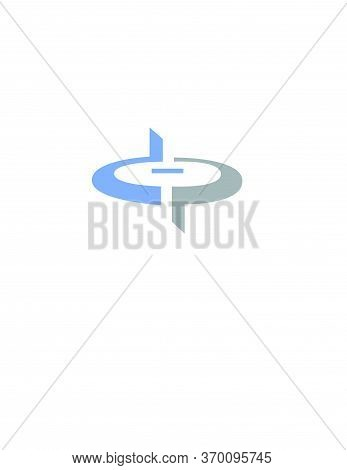 Dp, Dop, Pd Initials Helicopter Or Drone Shape Logo And Vector Icon