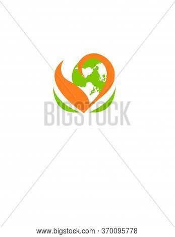 Love Green Environmental World For Save Our World Logo And Vector Icon