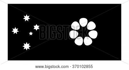 Flag Of The Northern Territory Australia. Black And White Eps Vector File.