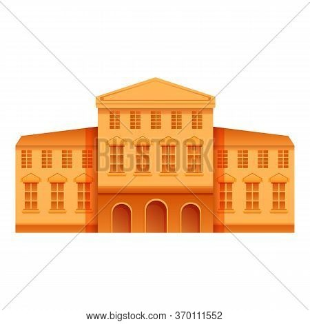 Theater Museum Icon. Cartoon Of Theater Museum Vector Icon For Web Design Isolated On White Backgrou