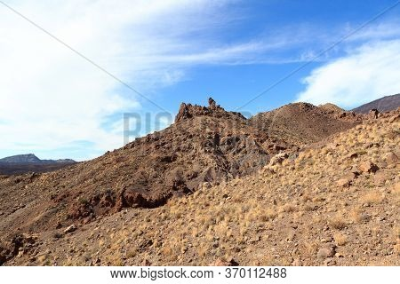 Volcanic Rock Formations Roques De Garcia In Teide National Park On Canary Island Tenerife, Spain