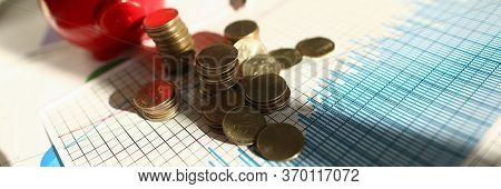 Calculation Home Budget And Accumulation Funds. On Table Are Documents With Graphs For Calculating I