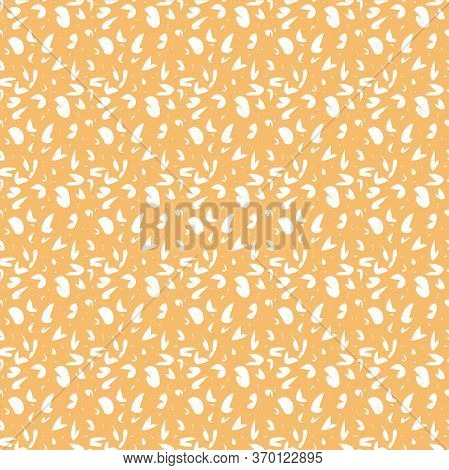 Seamless Pattern In White Abstract Spots. Simple Background For Textile, Pattern Fills, Covers, Surf