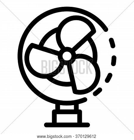 Three Blade Propeller Icon. Outline Three Blade Propeller Vector Icon For Web Design Isolated On Whi