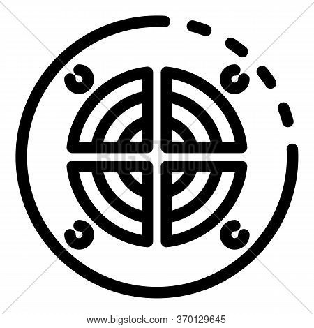 Round Ventilation Grate Icon. Outline Round Ventilation Grate Vector Icon For Web Design Isolated On