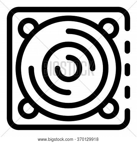 Indoor Ventilation Lid Icon. Outline Indoor Ventilation Lid Vector Icon For Web Design Isolated On W