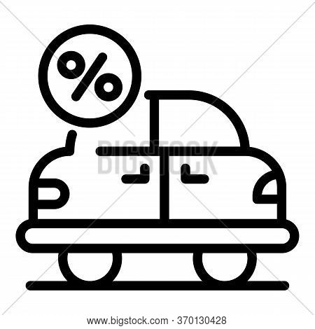 Car Leasing Icon. Outline Car Leasing Vector Icon For Web Design Isolated On White Background
