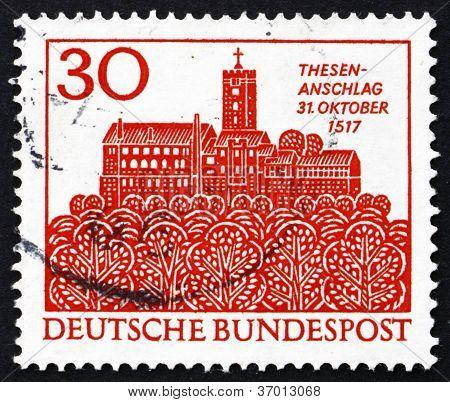 Postage stamp Germany 1967 The Wartburg, Eisenach