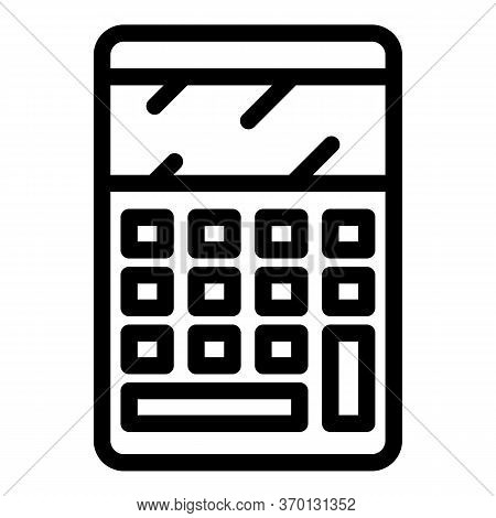 Mathematical Calculator Icon. Outline Mathematical Calculator Vector Icon For Web Design Isolated On