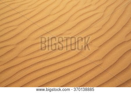 Close-up View Of Ripples In Desert Sand In Oman