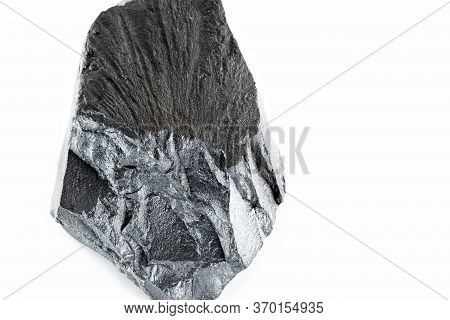 Hematite Bitch. Iron Rock On Isolated White Background. Used In Industry And With Mystical Propertie