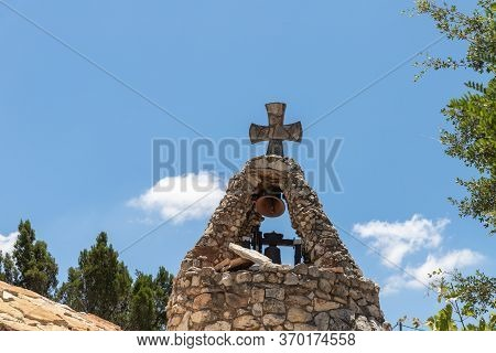 Hararit, Israel, May 30, 2020 : The Bell Rings In The Bell Tower Of The Monastery Of Lavra Netofa Ne