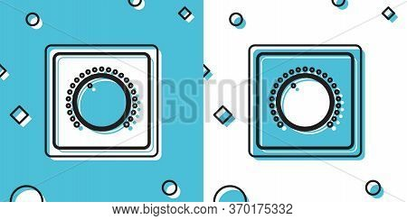 Black Electric Light Switch Icon Isolated On Blue And White Background. On And Off Icon. Dimmer Ligh