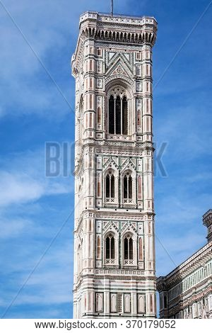 Giotto's Bell Tower, Piazza Del Duomo In Florence. Tuscany, Italy