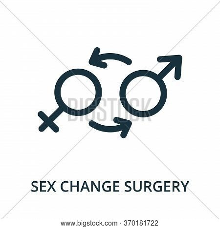 Sex Change Surgery Icon From Plastic Surgery Collection. Simple Line Element Sex Change Surgery Symb