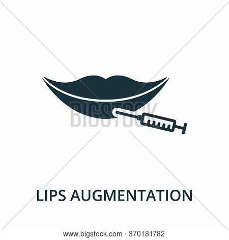 Lips Augmentation Icon From Plastic Surgery Collection. Simple Line Element Lips Augmentation Symbol