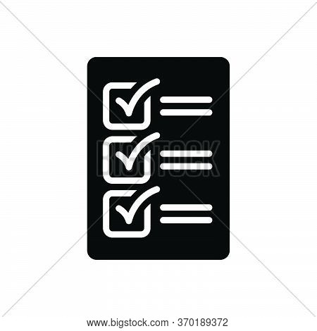 Black Solid Icon For Compulsory Mandatory Obligatory Imperative