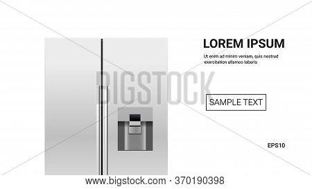 Stainless Steel Refrigerator Side By Side Fridge Freezer Modern Kitchen Household Domestic Appliance
