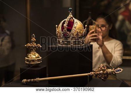 Vienna, Austria - 3 September 2018: Treasury Of The Habsburg Dynasty Museum Hofburg Palace In Vienna