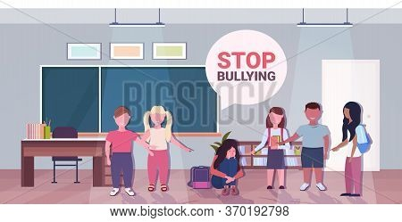 Schoolboy Being Bullied By Mix Race Classmates Violence Social Anxiety Stop Bullying Psychotherapy C