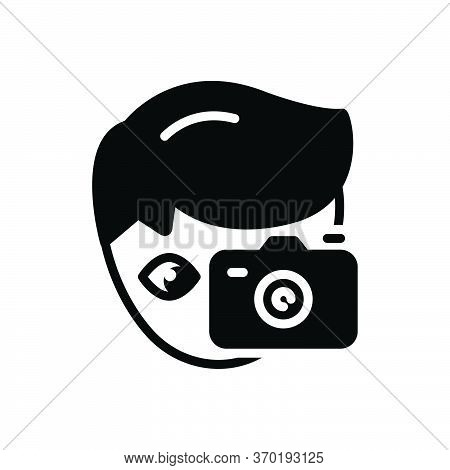 Black Solid Icon For Hobby Penchant  Photography Photocamera Take-photo