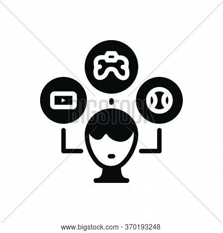 Black Solid Icon For Interest Hobby Like Choice Favourite Inclination