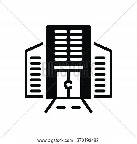 Black Solid Icon For Corporate Building Architecture Supervision