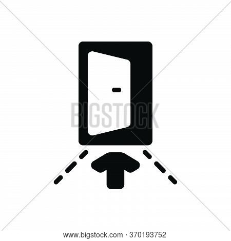 Black Solid Icon For Input Penetration Entry Admission Ingress