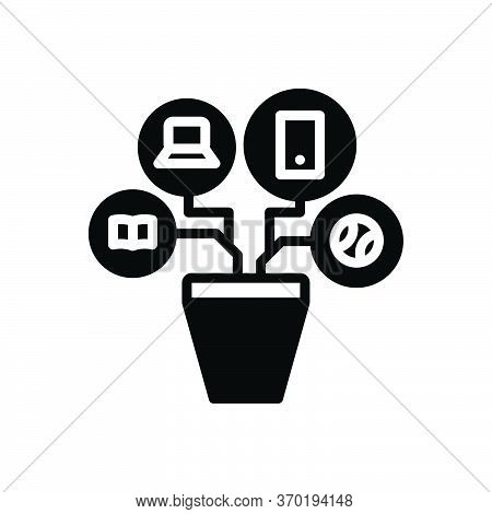 Black Solid Icon For Resources Modality  Remedy Means Appliance
