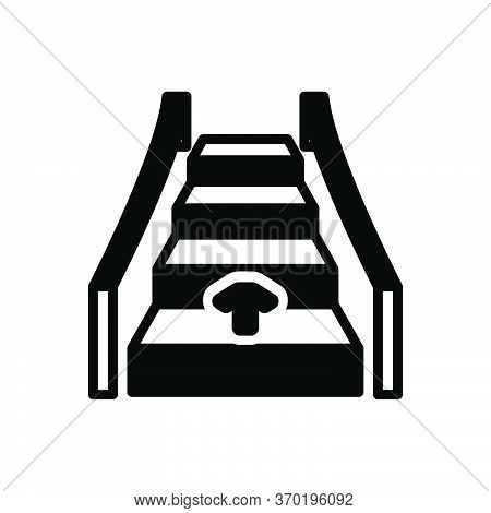 Black Solid Icon For Automatic Ladder Technology Electronic Automatical