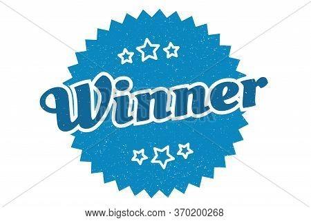 Winner Sign. Winner Round Vintage Retro Label. Winner