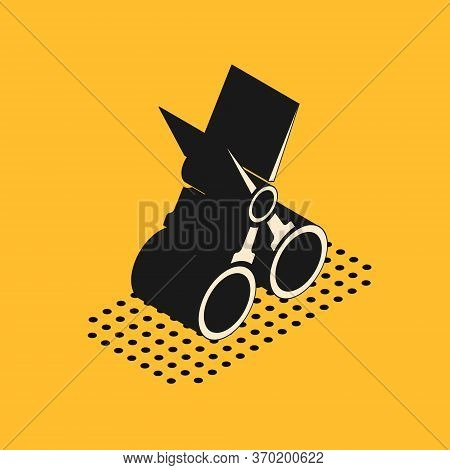 Isometric Scissors Hairdresser Icon Isolated On Yellow Background. Hairdresser, Fashion Salon And Ba
