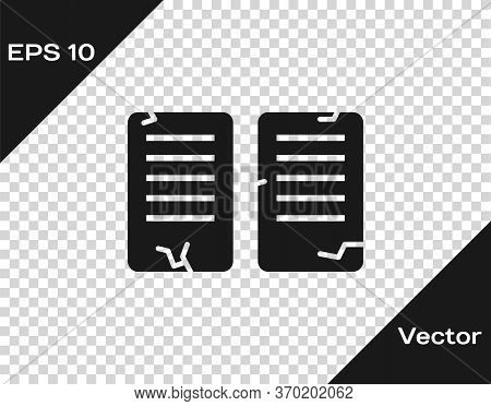 Black The Commandments Icon Isolated On Transparent Background. Gods Law Concept. Vector Illustratio
