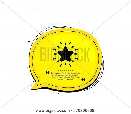 Rank Star Icon. Quote Speech Bubble. Success Reward Symbol. Best Result Sign. Quotation Marks. Class