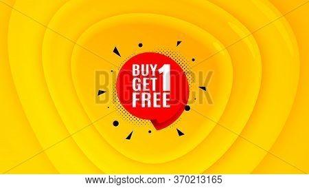 Buy 1 Get 1 Free Badge. Geometric Plastic Design Banner. Discount Banner Tag. Coupon Icon. Orange Sh