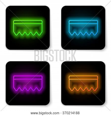 Glowing Neon Line Sponge With Bubbles Icon Isolated On White Background. Wisp Of Bast For Washing Di