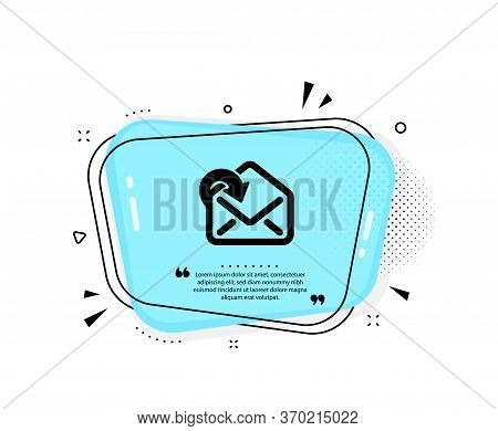 Receive Mail Download Icon. Quote Speech Bubble. Incoming Messages Correspondence Sign. E-mail Symbo