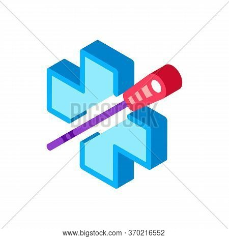 Medical Benefits Of Acupuncture Icon Vector. Isometric Medical Benefits Of Acupuncture Sign. Color I